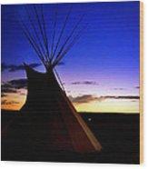 Navajo Night Wood Print