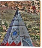 Navajo Trading Post Teepee Wood Print