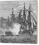 Naval Battle, 1813 Wood Print