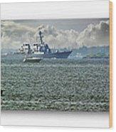 Naval Ship Wood Print