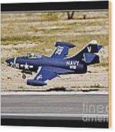 Navy Landing Wood Print