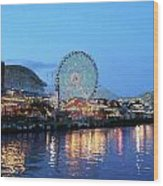 Navy Pier Chicago Digital Art Wood Print