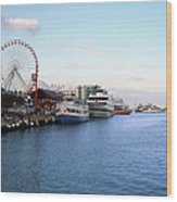 Navy Pier Chicago Summer Evening Wood Print