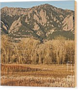 Ncar And Flatiron View Boulder Colorado   Wood Print