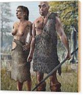 Neanderthals, Artwork Wood Print