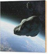 Near-earth Objects, Artwork Wood Print by Take 27 Ltd