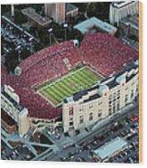 Nebraska Aerial View Of Memorial Stadium  Wood Print