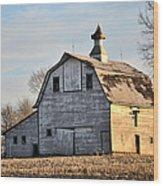Nebraska Barn In Otoe County Wood Print