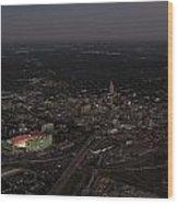 Nebraska Memorial Stadium And Campus Wood Print by PRANGE Aerial Photography