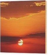 Nebraska Sunrise Wood Print