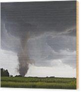 Nebraska Tornado Wood Print