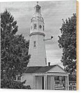 Neenah Lighthouse  8390 Wood Print