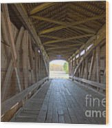 Neet Covered Bridge Interior Wood Print