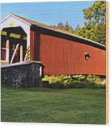 Neff's Mill Covered Bridge In Lancaster County Pa. Wood Print