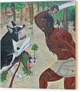 Neg Mawon Haiti 1791 Wood Print by Nicole Jean-Louis