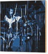 Blue Drums Wood Print