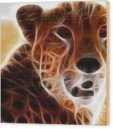 Neon Cheeta Wood Print