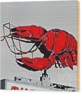 Neon Crawfish On Hwy 61 Baton Rouge Wood Print