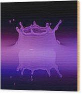 Neon Crown 2 Wood Print