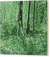 Neon Forest Wood Print