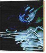 neon II Wood Print
