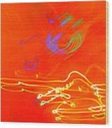 neon III Wood Print
