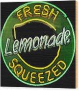 Neon Lemonade Wood Print