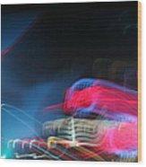 Neon Nights Wood Print by Rick Rauzi