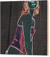 Neon Temptress Wood Print