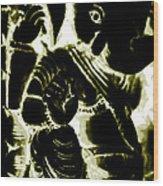 Neonganpati Wood Print