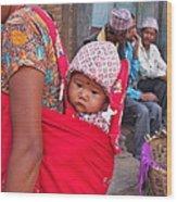 Nepali Baby Wood Print
