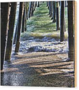 Neptune's Stairway Wood Print by Mariola Bitner