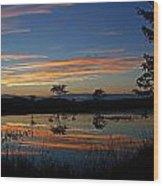 Nerepis Marsh Sunset Wood Print