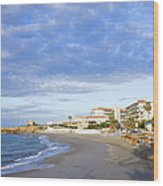 Nerja Beach On Costa Del Sol Wood Print