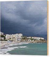 Nerja Beach On Costa Del Sol In Spain Wood Print