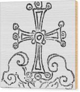 Nestorian Cross, 781 A.d Wood Print