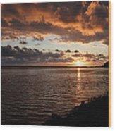 Netart's Bay Sunset 1 Wood Print