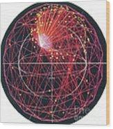 Neutrino Tracks Wood Print