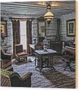 Nevada City Hotel Parlor - Montana Wood Print