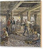 Nevada Silver Mine, C1880 Wood Print