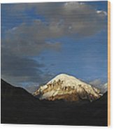 Nevado Sajama At Sunset. Republic Of Bolivia.  Wood Print by Eric Bauer