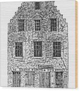 New Amsterdam: House, 1626 Wood Print