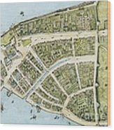 New Amsterdam Wood Print by Pg Reproductions