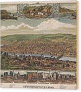 New Brighton Pennsylvania 1883 Wood Print