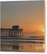 New Day On The Beach Wood Print