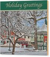 New England Christmas Wood Print by Joann Vitali