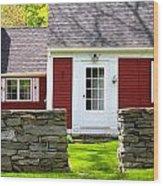 New England Farmhouse Wood Print
