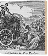 New England: Harvest, 1830 Wood Print