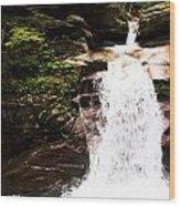 New Hampshire Waterfall Wood Print