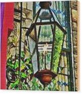 New Hope Gas Street Light Digital Painting Wood Print